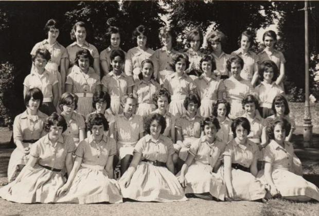 The class of 1961-62 at St Mary's Church of England Secondary School
