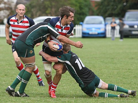 Try scorer: Ed Lewis-Pratt got on the scoresheet twice at Cinderford but it was not enough for Rosslyn Park