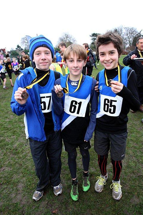 Delighted: Aaron Bruce, Sam Shaw and Jorge Beltrao with their medals