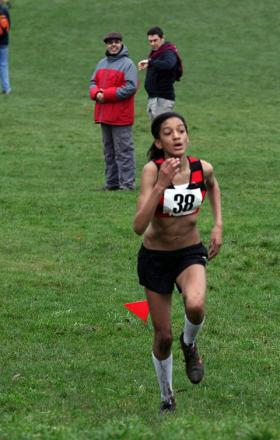 Resilient to flu: Katy-Ann McDonald won gold at the Surrey Schools' Cross