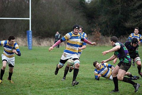 Clear: Fisher's Michael Tuka clears the lines in the win over Weybridge Vandals    SP72942