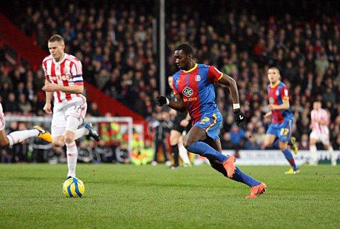 No this time: Yannick Bolasie impressed in the 0-0 draw at Selhurst Park, but he could not prevent the need for tonight's replay