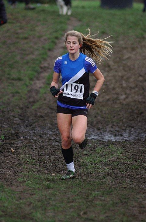 Best foot forward: Kingston athlete Phoebe Law winning at Mitcham Common last weekend 	SP73251