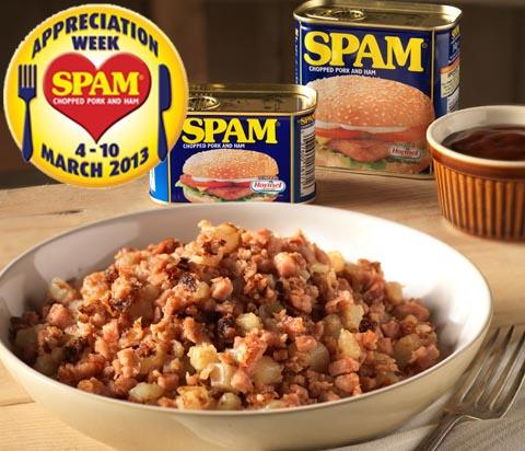 Recipes for SPAM® Appreciation Week (March 4-10 2013): SPAM® Hash