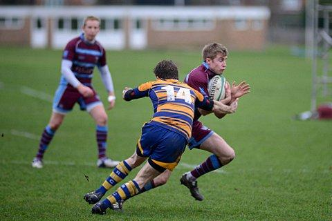 Try scorer: Wimbledon's Peter Scott got on the scoresheet against Dover   BT72886