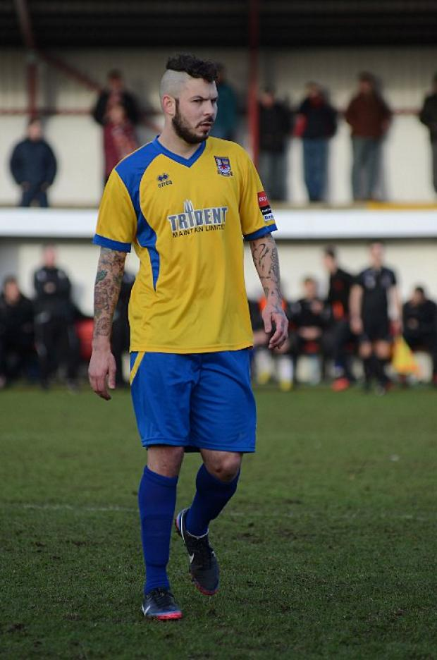 At the death: Paul Vines scored late on to salvage a point at Enfield Town    SP73056