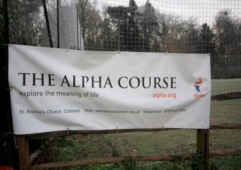 Gone: Alpha court banner stolen