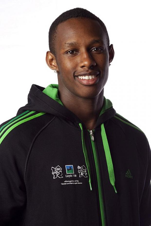 Jumping in three stages: Triple jumper Julien Allwood was the pick of Harriers' performers at the London Indoor Games