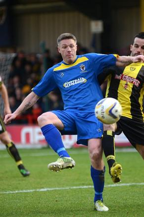 Prolific goalscorer: Gary Alexander says a striker thrives on service, and there is plenty at the Dons