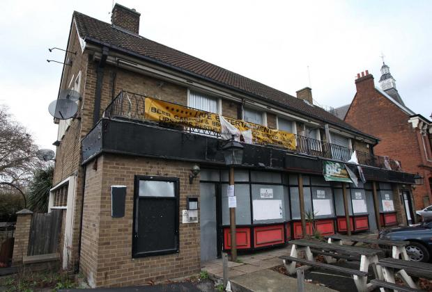 The derelict pub will remain intact after Chatsworth Land's plans were thrown out