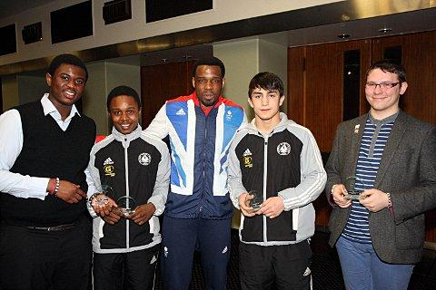 Wandsworth winners: Winston Gordon with the all-conquering judo team from the London Youth Games    SP73757