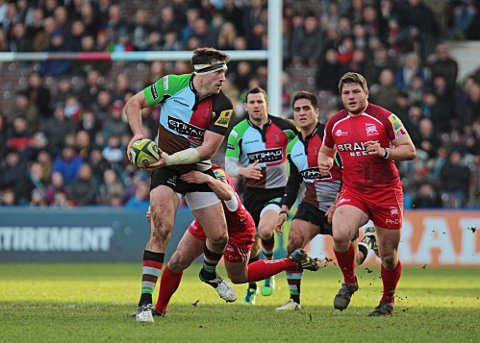 Starting: Quins back row Tom Guest will start against London Wasps tomorrow