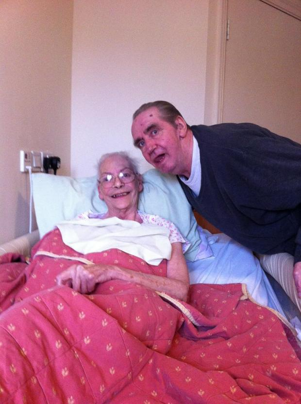 Janet and John Norton, recovering in a Eltandia Hall care centre in Pollards Hill