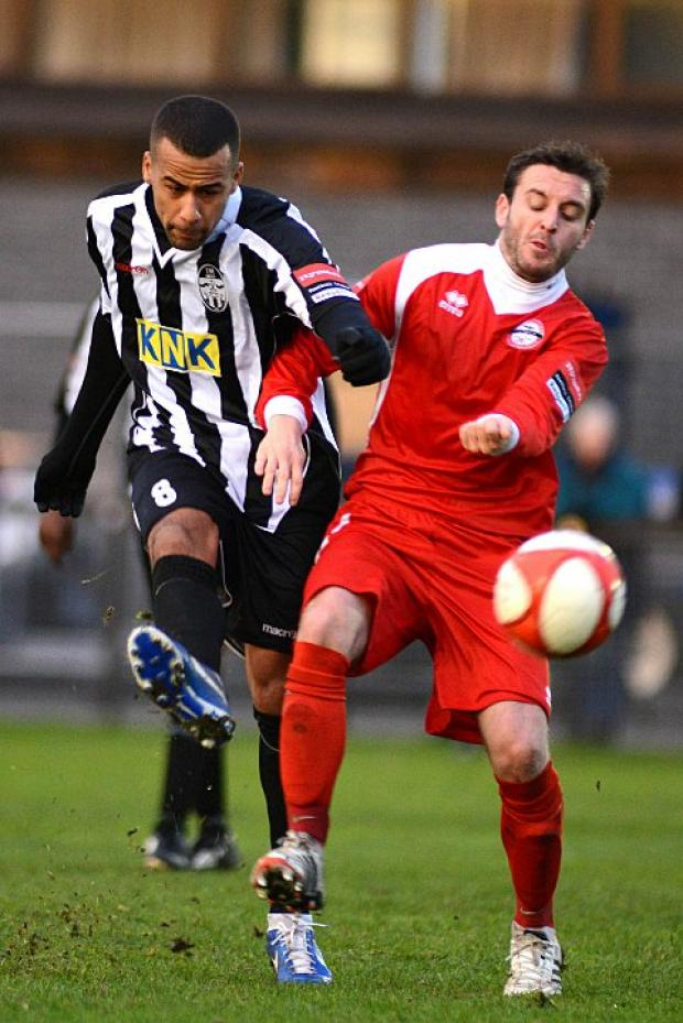 Nothing ever happens: Lee Hall (left) says the Tooting players are happy to play for Phil Simpson    SP71842