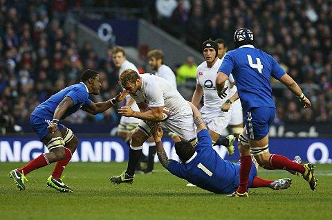 High praise: Chris Robshaw takes on France at Twickenham last Saturday 	Picture: Getty Images
