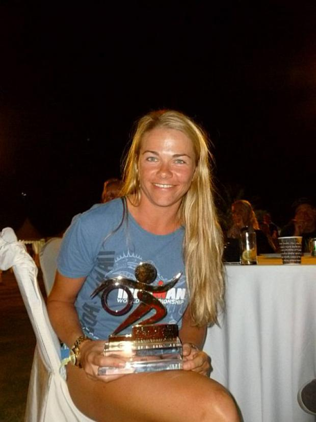 Winner: Alena Stevens from Kingston won the female 30-34 age group long course event at the Abu Dhabi triathlon