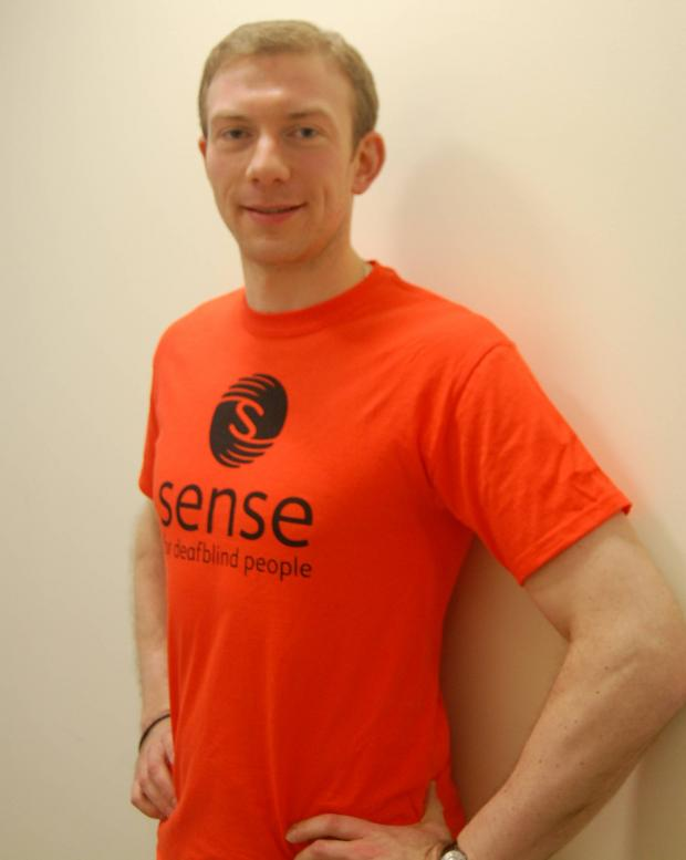 Jon foster, from Morden, will raise money for national deafblind charity Sense