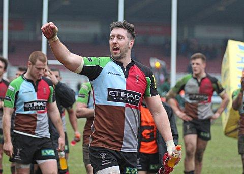 On our way: Pete Browne celebrates reaching the LV= Cup final		        SP74693
