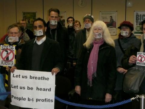 Anti-incinerator protesters storm council meeting