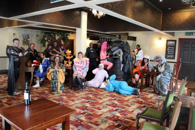 Staff costume capers raise hundreds for Comic Relief