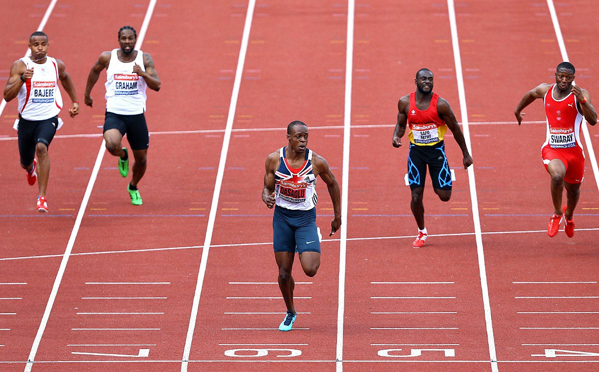 First man home: James Dasaolu clocked 9.91secs over 100m at the British Championships last year         Picture: Jan Kruger