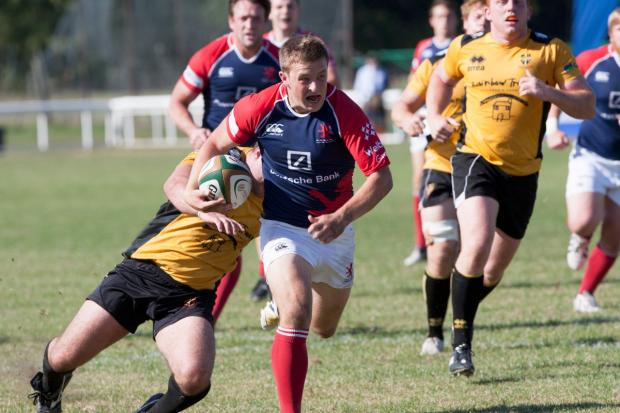 Ready: Following his summer switch from Irish side Gala, Lee Millar is set for his London Scottish debut this weekend