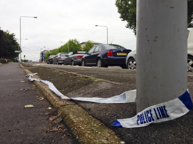 Wimbledon Guardian: PC Andy Duncan was struck by a Black VW Golf on Reigate Avenue near to the junction of Rosehill in Sutton