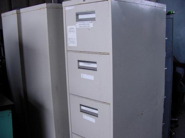 A filing cabinet has been lost containing patient details