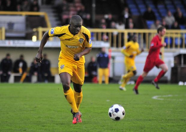 Wimbledon Guardian: Michael Boateng playing for Sutton United