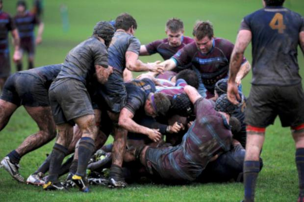 Muddy hell: In horrendous conditions, Wimbledon could not overcome Cobham in London Division One South     All pictures: