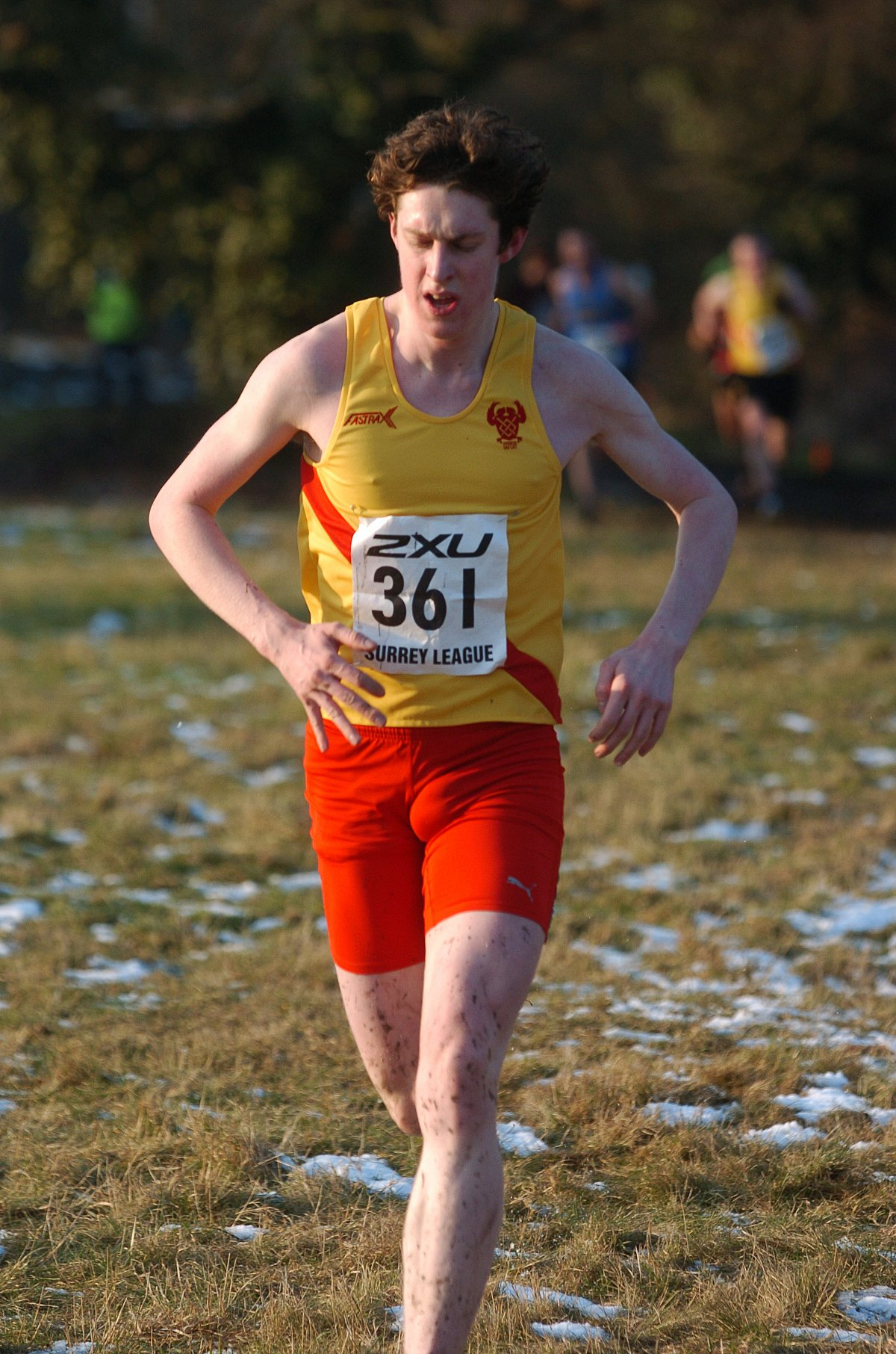 Keep on running: Liam White in action for Hercules Wimbledo