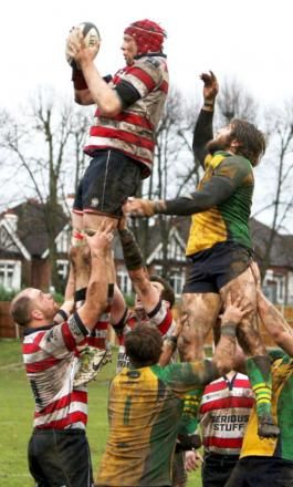 Supremacy: Park's dominance at the line out was key to the victory over Henley Hawks            Picture: David Whittam