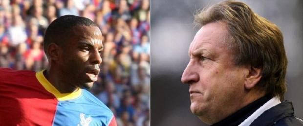 Jason Puncheon (left) has deleted the series of tweets which railed against former Palace manager Neil Warnock (right)
