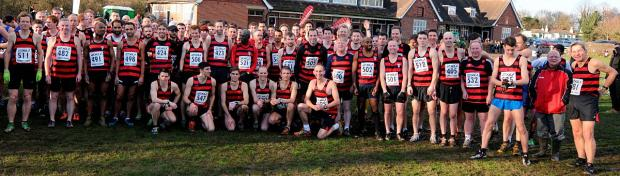 All winners: More than 125 Herne Hill Harriers from past and present turned out last weekend to celebrate the club's 125th birthday, including the male contingent in the Surrey Men's League meeting