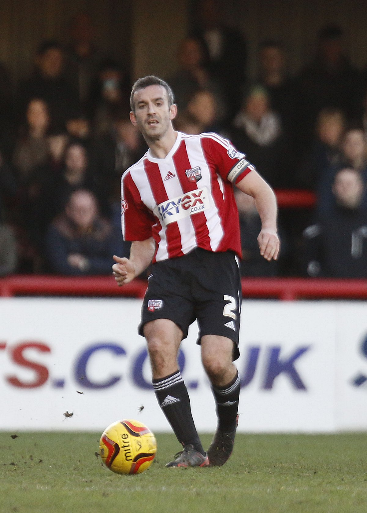 Captain fantastic: Brentford skipper Kevin O'Connor is a rare outing against Port Vale on Saturday