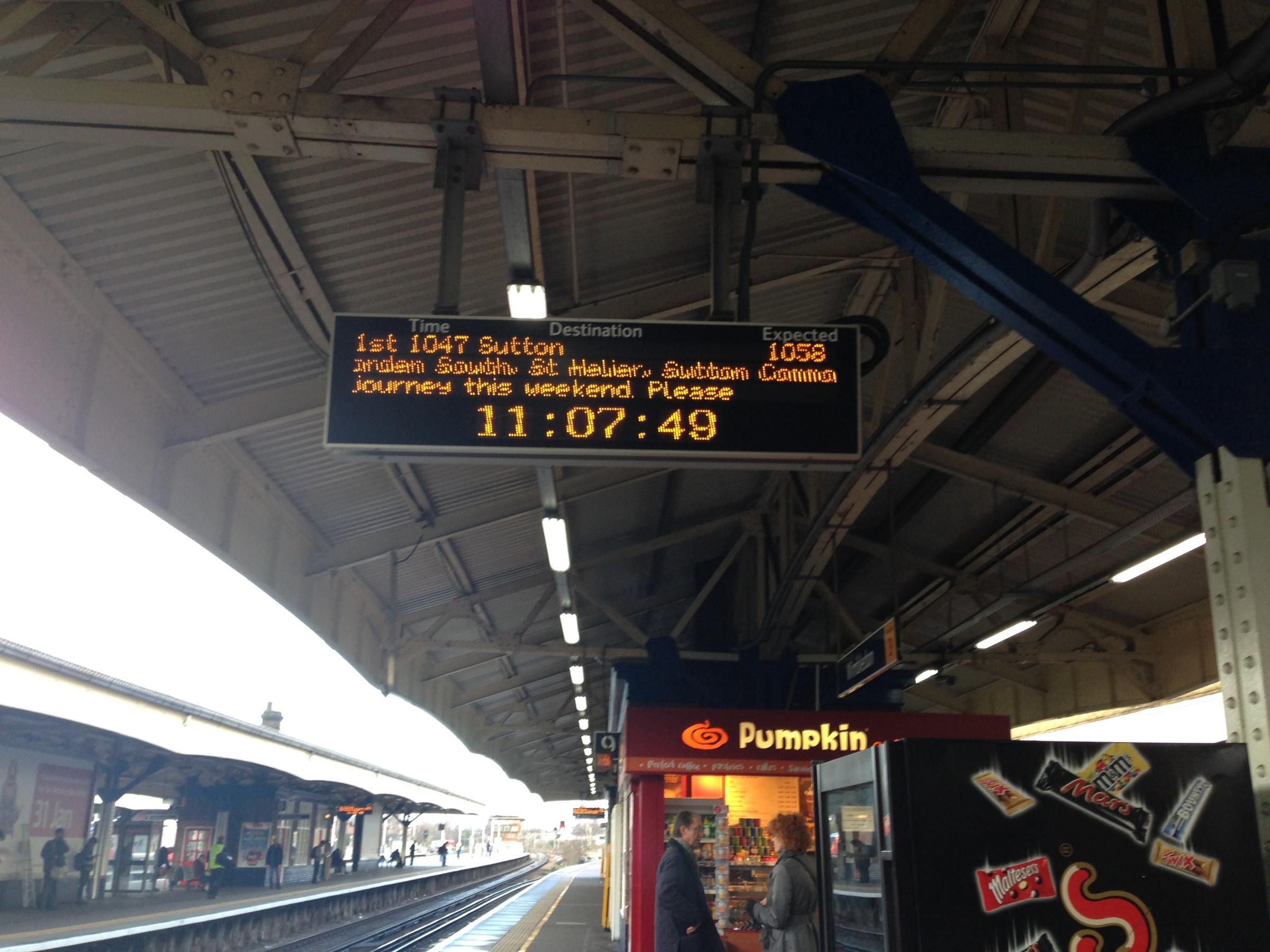 Signs advertising the delays are unclear