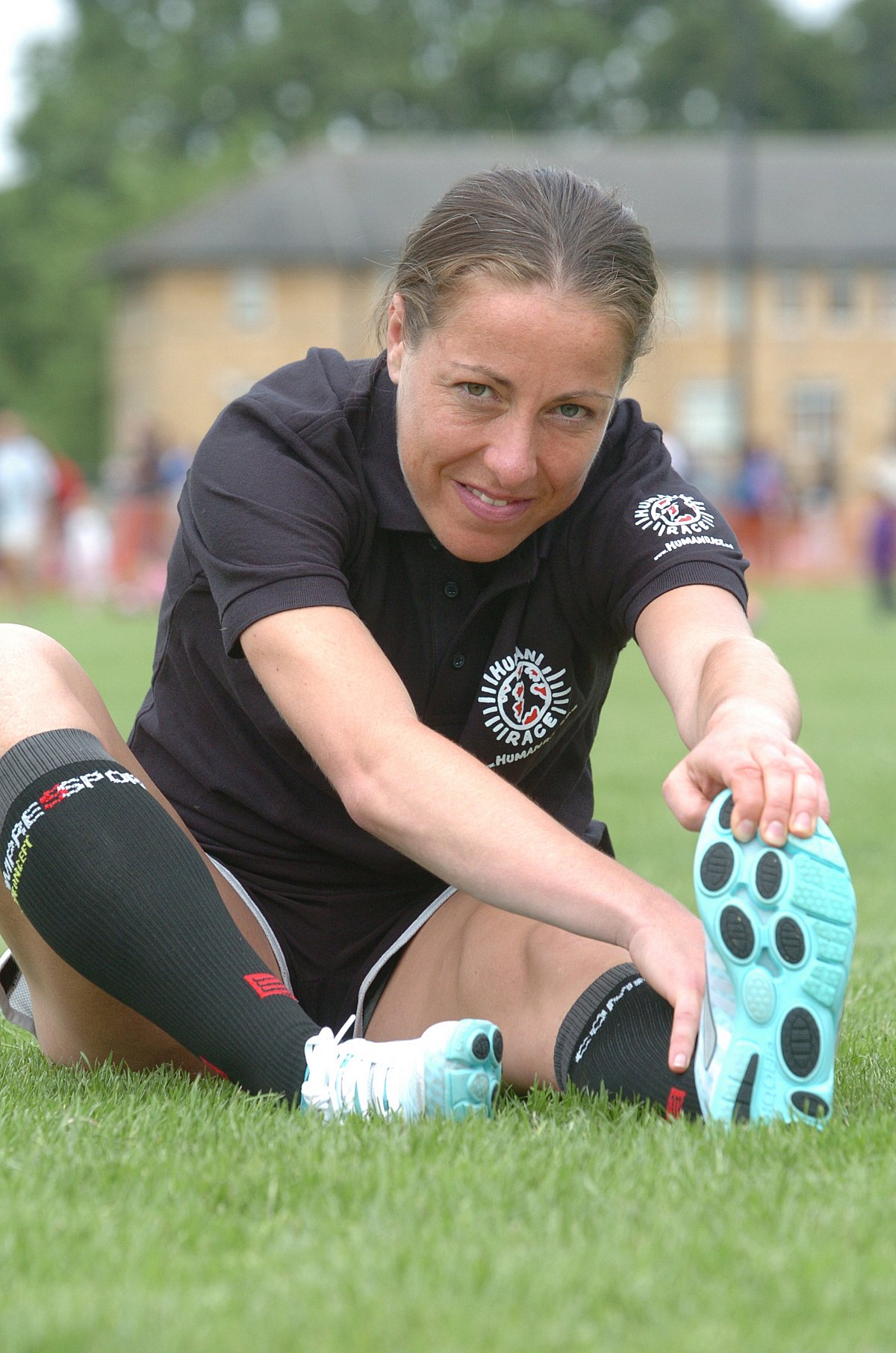 Stretched resources: Stragglers' Jessica Draskau-Petersson warms-up ahead of a training session at St Mary's Univers