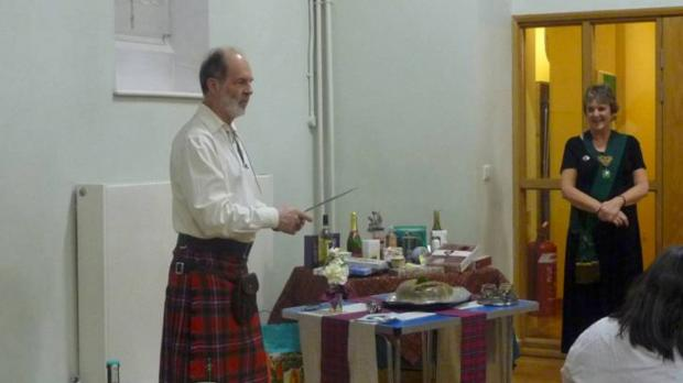 Members of the St. Andrew Society, Wimbledon & District Scot's Association celebrated Burns Night