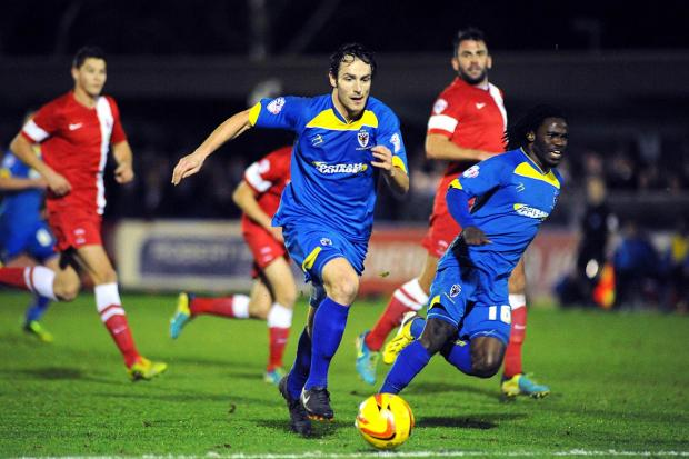 Top start: Danny Hylton marked his AFC Wimbledon debut with the winning strike against Hartlepool United              DeadlinePix SP825