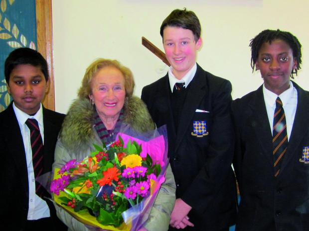 Freda Wineman, 90, presented her survival story to 250 Year 9 pupils in Merton