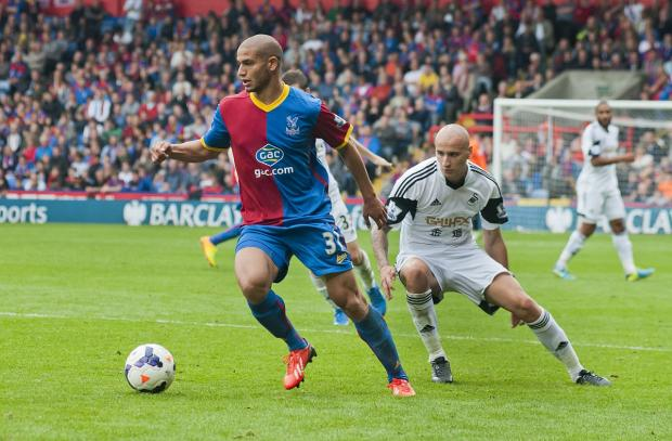 Sweating: Adlene Guedioura's move from Nottingham Forest to Palace was the last of the summer transfer window              SP79115