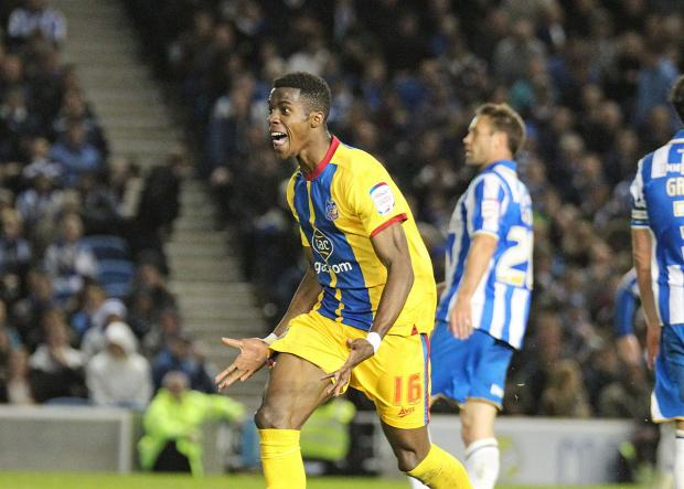 Happy memories: Wilfried Zaha fired Crystal Palace to victory over Brighton last season