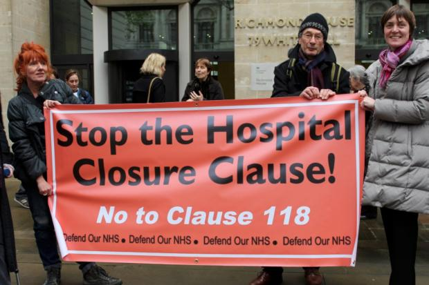 Siobhan Tate (far right) with campaigners against Clause 118