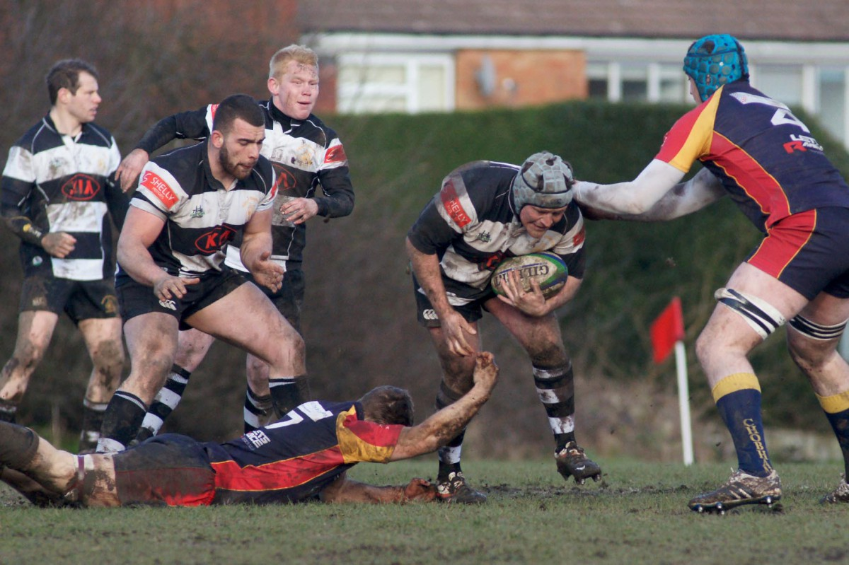 New man: Sutton & Epsom's Ed Spackman made his debut in the defeat at Chobham        All pictures: Dave Jackson