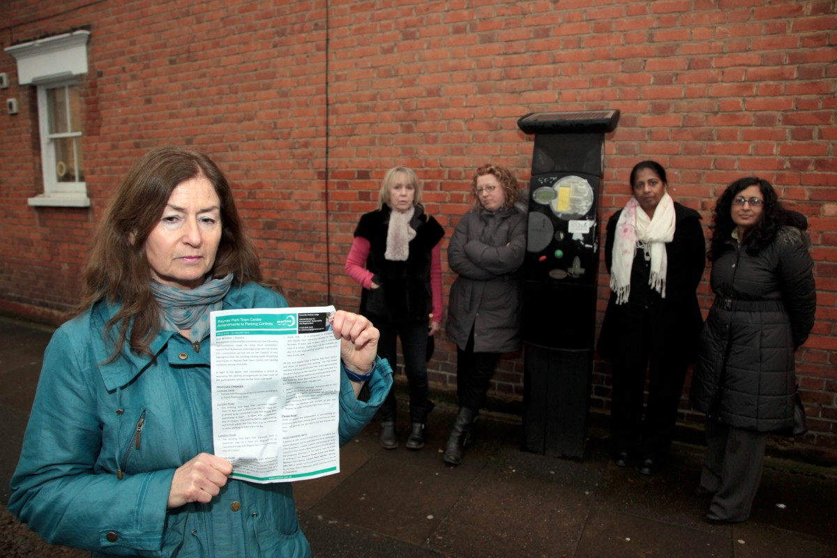 Campaigners against changes to car parking in Raynes Park