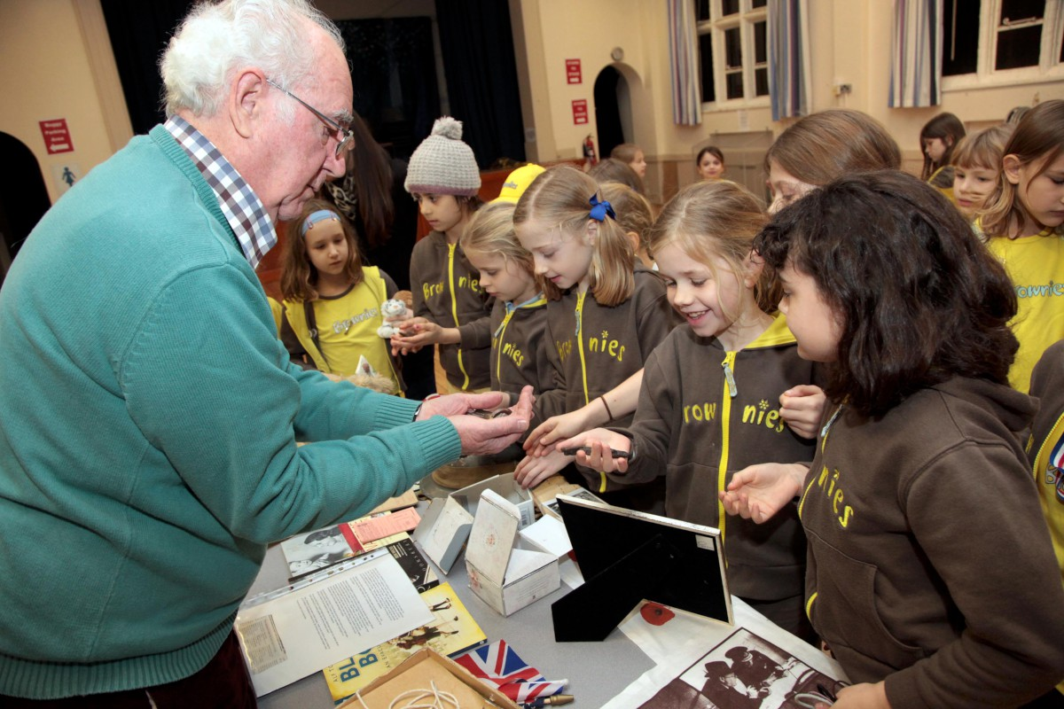 Wimbledon brownies learn about being war evacuees