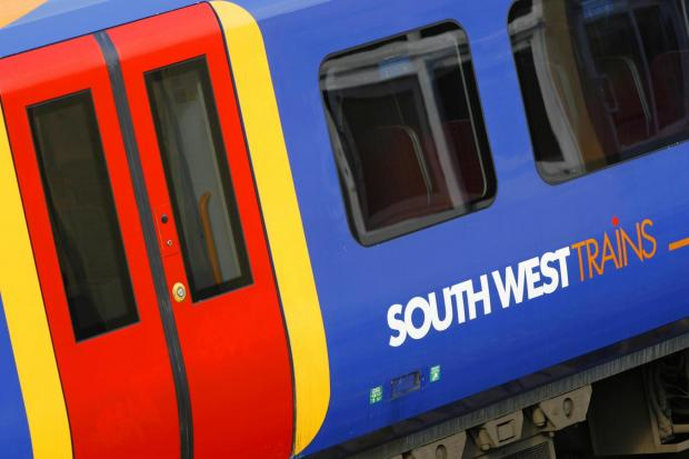 A man was hit by a train at the weekend
