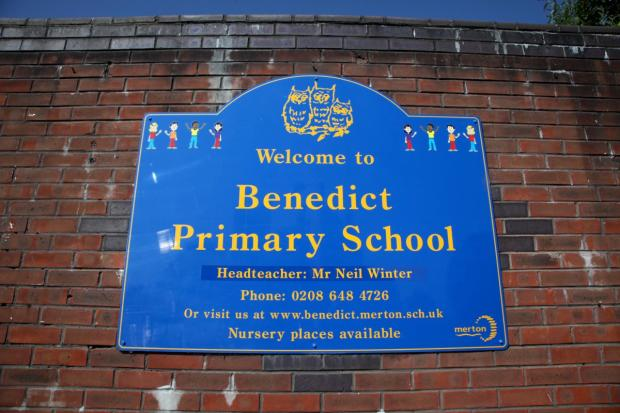 New logo: Benedict Primary School