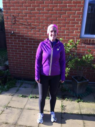 Vanessa Benussi training for the London Marathon