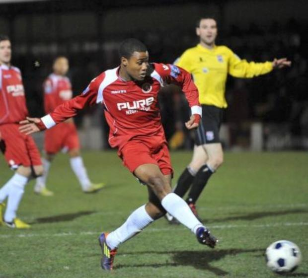 Wimbledon Guardian: Impact man: Theo Fairweather-Johnson in his Welling United days       Picture: Dave  Budden